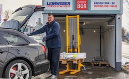 Kontaktlose Abholung: Leinweber-Baustoffbox in Coronazeiten beliebt