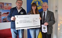 Lions-Club Bebra-Rotenburg überreicht 1.000 Euro für Frauenhaus
