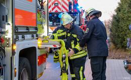 Feuerwehr in Bronnzell im Einsatz: Mülltonnen standen in Brand