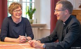 Erster Erfahrungsaustausch von Bischöfin Hofmann und Bischof Gerber