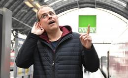 Die neue Stimme der Bahn: Heiko Grauel macht die Durchsagen am Bahnsteig