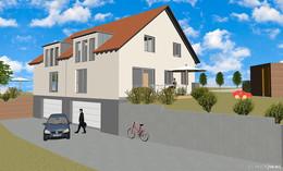 Manns Bau GmbH: Neubau von zwei Doppelhaushälften in Petersberg