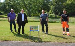 Neue Blühflächen und Bienenweiden im Bürgerpark angelegt