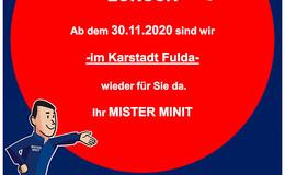 MISTER MINIT: Nach Galeria-Schließung ab dem 30. November im Karstadt