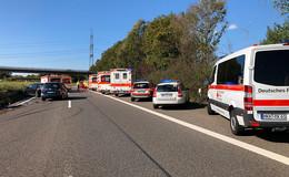 Schwerer Unfall auf der A 66 bei Gründau-Lieblos - Fünf Verletzte