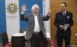 Presseschießen bei der Polizei: Emotionaler Abschied vom Eintracht-Fan