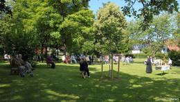 Im Stadtpark: Gottesdienst im Freien fand sehr guten Anklang