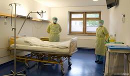 Ein Blick in die Covid-Station am Klinikum Bad Hersfeld