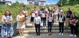 Verabschiedung von 83 Auszubildenden der Berufsschule Gesundheit
