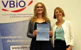 Bestleistungen in Biologietechnik: Karl-von-Frisch-Preis für Lisa Weichlein