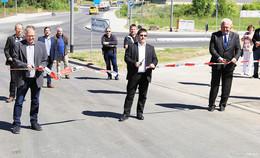 Offiziell freigegeben: Neuer Kreisverkehr an der Zufahrt zur Blauen Liede