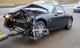 Crash auf Rhön-Autobahn 7: zwischen Fuldaer Dreieck und Fulda-Mitte