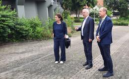 Silvia Brünnel (Grüne) besucht Caritas-Standort Fulda-Marberzell