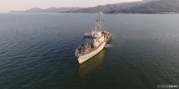 Besatzung des Minenjagdboots Fulda grüßt aus dem NATO-Einsatz
