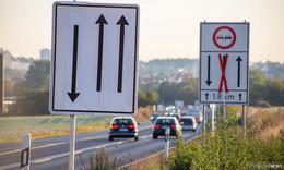 Verkehrsführung auf der B27 geändert: zweite Fahrspur eingerichtet