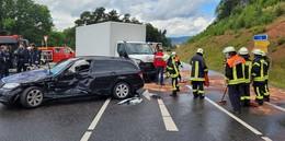 Schwerer Unfall auf der B27 nahe der Abfahrt Unterhaun