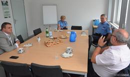Bürgermeister Tschesnok zum Antrittsbesuch in der Hünfelder Polizeistation