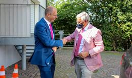 MdB Michael Brand (CDU) holt Wolfgang Bosbach zum Wahlkampfauftakt