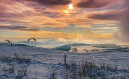 Schneeflöckchen Weißröckchen: Winterzauber auf der Wasserkuppe - Fotos
