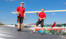 Beste Werbung für die Zunft: Die Ommert-Brothers steigen einem aufs Dach