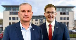 Landrat Woide und Vize Schmitt im O|N-Gespräch zur Lage und den Problemen