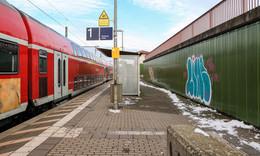 Erneut Schmierereien am Bahnhof in der Kaligemeinde