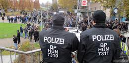 Stab der Bundespolizeiabteilung Hünfeld mit weiteren Einsatzkräften in Stuttgart