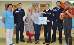 Polizeipräsidium Osthessen spendet 400 Euro an die Kinderklinik