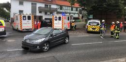 Eine schwer verletzte Fahrerin (36) nach Vorfahrtsmissachtung