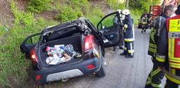 Alleinunfall nahe Lispenhausen: Rund 30 Rettungskräfte im Einsatz