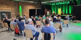 Grünen-Spitzenkandidat Omid Nouripour war zu Gast im Lokschuppen