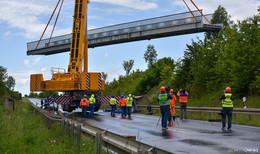 Nach Unfall: neue Fußgängerbrücke für den Westring