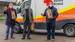 Eine Tonne Kartoffeln gespendet: Fuldaer Tafel und DRK-Knotenpunkt verteilen