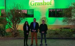 Landhotel Grashof erstrahlte am Montagabend in komplett grünem Licht