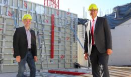 Bau des Kreissparkassengebäudes läuft nach Plan