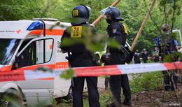 Rodungsarbeiten beginnen morgen! Polizeibeamte aus ganz Deutschland vor Ort