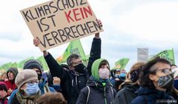 Danni-Klimacamp findet großen Anklang: Auftakt mit etwa 200 Demonstranten