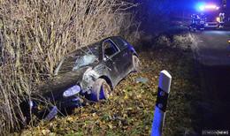Nächtlicher Unfall auf L3143: Pkw von Fahrbahn abgekommen