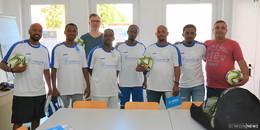 Neuer Hünfelder Sport-Coach rüstet fußballbegeisterte Flüchtlinge aus