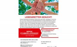 Hilfe für Mitglied der Schulgemeinde: Aufruf zur DKMS-Registrierungsaktion