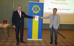 Präsidentenwechsel beim Lions Club Bebra-Rotenburg