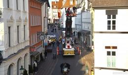 Einsatz in der Innenstadt: Personenrettung in der Karlstraße