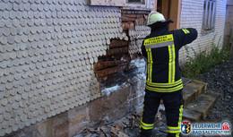 Zehn Quadratmeter eines Fachwerkhauses brannten - 16 Einsatzkräfte vor Ort