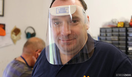 Schutzvisiere gegen Corona - Orthopädie-Schuhmachermeister Christian Kersch
