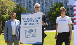 Ein Jahr nach Lübcke-Mord: Kampagne Demokratische Werte sind unsterblich