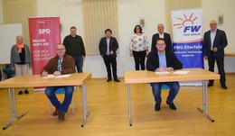 FWG und SPD Eiterfeld unterzeichnen Vereinbarung einer Zusammenarbeit
