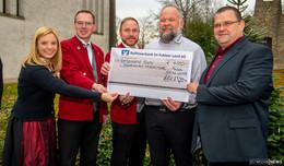 Großzügige Spende von Günther Bau: 4.000 Euro für Musikverein Mittelrode