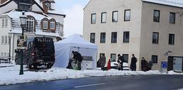 Schnelle Improvisation: Caritas Hot-Truck wird zum Zelt