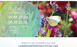 Virtuelle Eröffnung der Landesgartenschau 2.023: Fulda verbindet