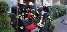 Vermisste Personen im Rauch: Feuerwehren üben im Hotel Rhön Garden